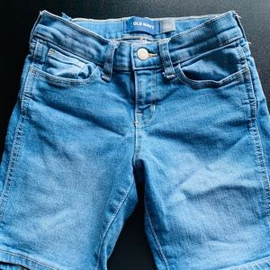 Girls jean shorts, size 8